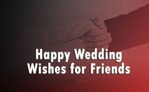 75+ Wedding Wishes For Friend – Marriage Wishes
